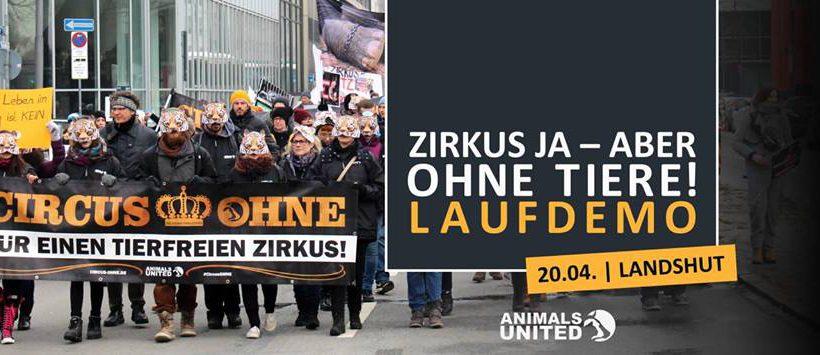 Lauf-Demo – Zirkus ja, aber ohne Tiere! Landshut