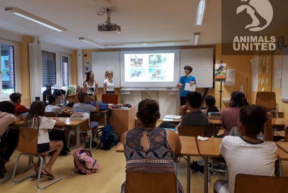 Tierschutz macht Spass zu Besuch in einer Klasse
