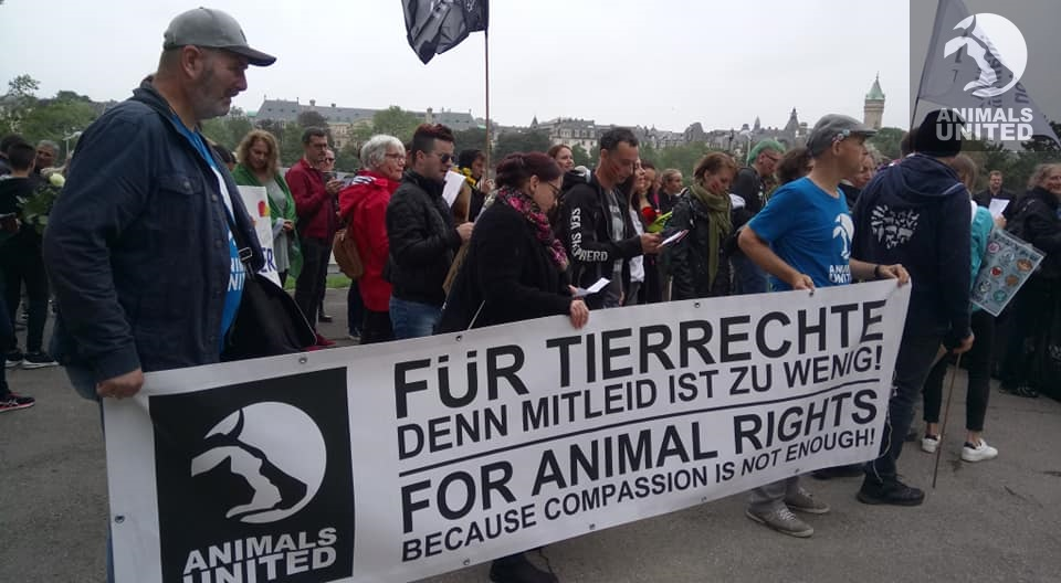 """Animals United beim """"Official Animal Right March 2019"""" in Luxembourg"""