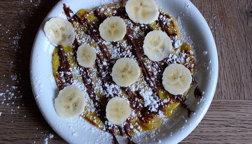 Tierleidfrei genießen: Bananen-Kokos-Pfannkuchen