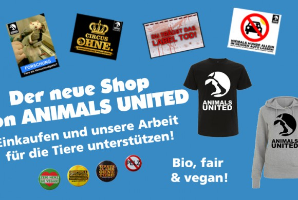 Brandneuer Online-Shop: Erlös geht zu 100 % in Tierrechtsarbeit!