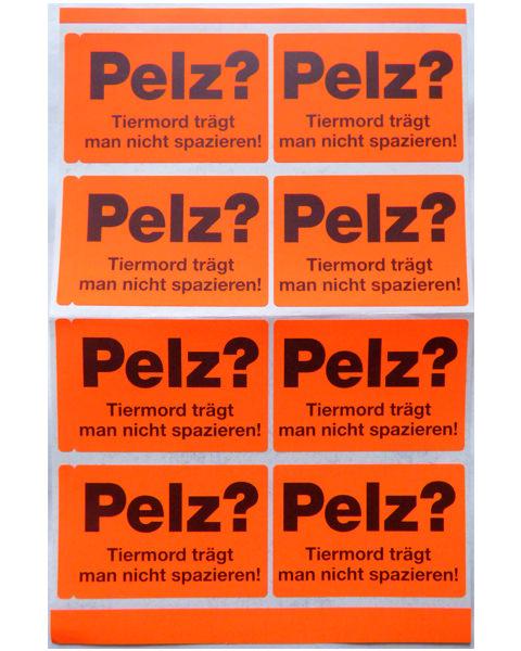 Briefaufkleber Anti Pelz