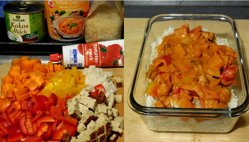 Tierleidfrei genießen: Gemüsecurry mit Reis