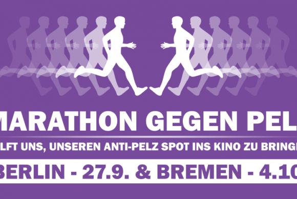 Marathon GEGEN PELZ – helft unserem Läufer!