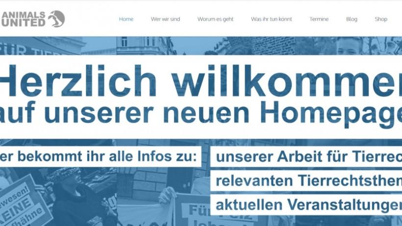 Mit neuer Homepage für Tierrechte!