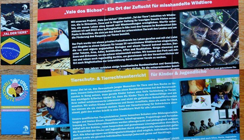 Brandneue Broschüren für unser Brasilien- und Schulprojekt!