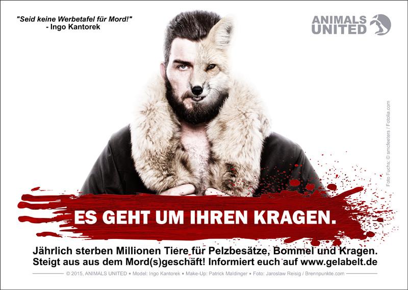 TV-Star Ingo Kantorek gegen Pelz