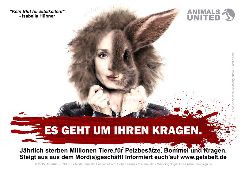 TV-Star Isabella Hübner gegen Pelz