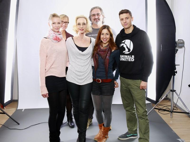 Gruppenbild vom Shooting in Grasbrunn bei München