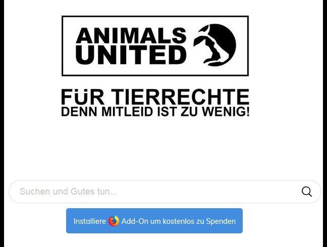 Suchen und gleichzeitig Tierrechtsarbeit unterstützen