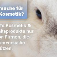 Keine Tierversuche für eure Kosmetik & Haushaltsprodukte!