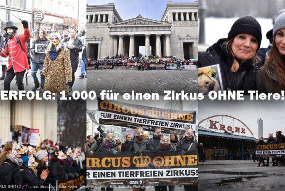 1.000 protestieren für einen Zirkus OHNE Tiere! #CircusOHNE