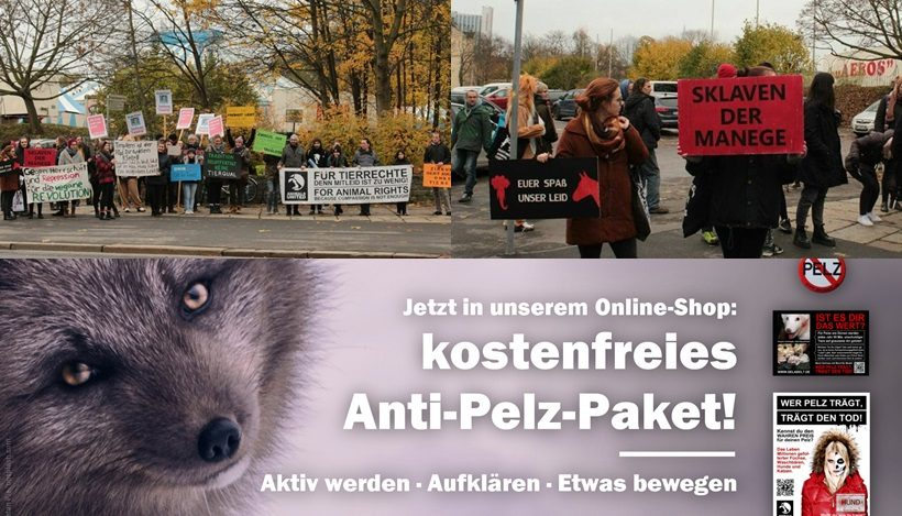 WHAT A WEEK: Kostenloses Anti-Pelz-Paket und CircusOHNE Demo in Chemnitz!